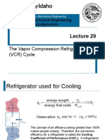 L29 - Vapor Compression Refrigeration