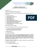 Cemento Pórtland Normal y Puzolánico