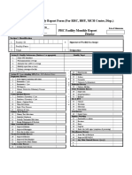 DHIS Monthly Reporting Form (PHC Facilities)