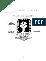 Filsafat Ilmu - Aspek Ontologi Ilmu Pengetahuan