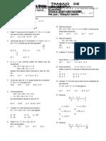 Ecuaciones e Inecuaciones 5to 2016