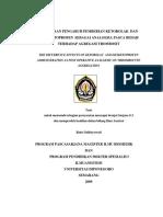 PERBEDAAN PENGARUH PEMBERIAN KETOROLAC DAN  DEKSKETOPROFEN SEBAGAI ANALGESIA PASCA BEDAH TERHADAP AGREGASI  TROMBOSIT.pdf