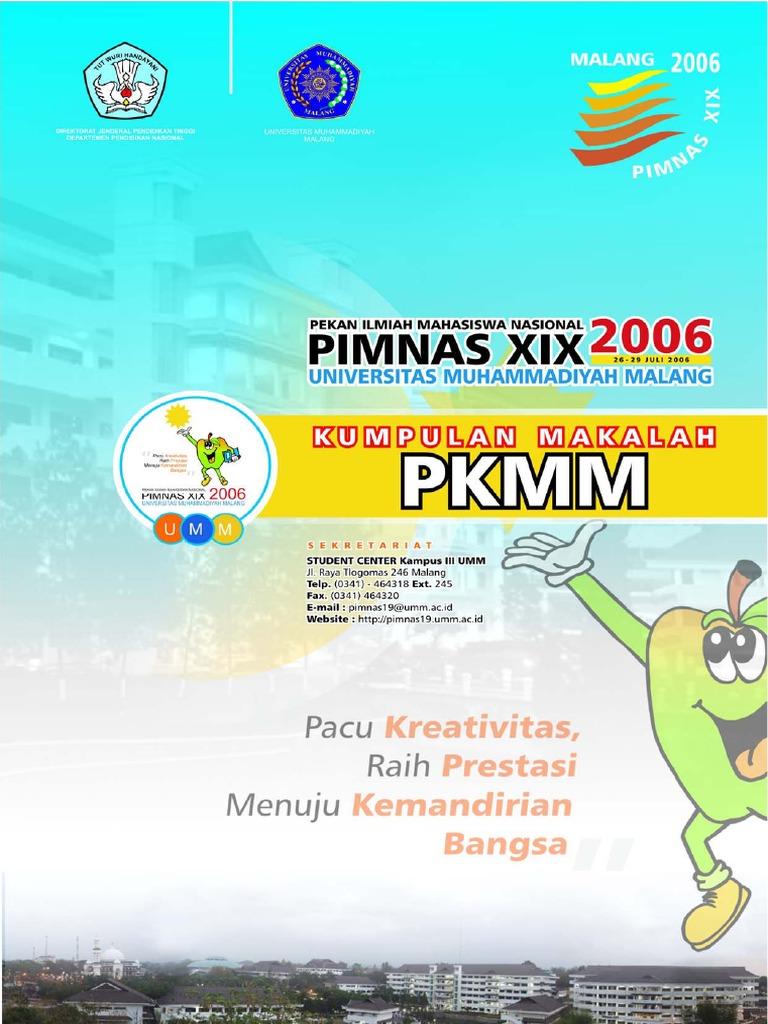 Kumpulan Makalah Pkmm Pimnas Xix 2006 Umm Malangpdf