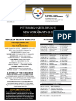 New York Giants at Pittsburgh Steelers (Dec.4)