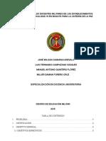 Proyecto Cátedra Paz FFMM en El Postconflicto