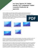 Efabrik Caso Para Sony Xperia z4Tablet Protector de Pantalla (10.1Pulgadas) Tablet Pc Juego de Accesorios Protector de Pantalla-Transparente