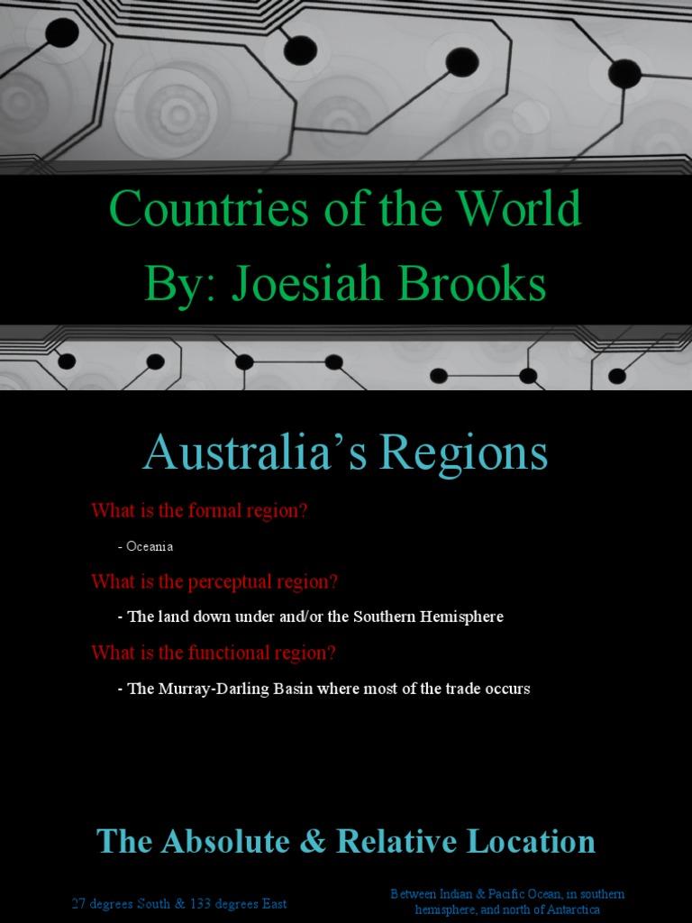geo project | Australia | Caribbean