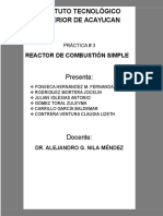 Reactor de Combustión Simple HYSYS 8