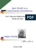 Adam Smith (1776) e o Crescimento Econômico