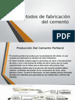 Métodos de Fabricación Del Cemento