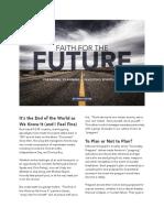 faith for the future