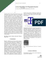 Image Compression Algorithms for Fingerprint System