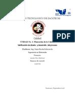 Verificación de Diseño y Desarrollo Del Proceso