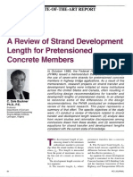 JL-95-March-April a Review of Strand Development Length for Pretensioned Concrete Members
