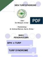 TURP Syndrome - V