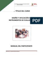 Manual de Instrumentos de Evaluación