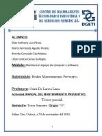Manual de mantenimiento preventivo a un equipo de cómputo