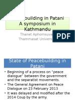Peacebuilding in Patani
