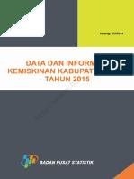 Data Dan Informasi Kemiskinan Kabupaten Kota Tahun 2015