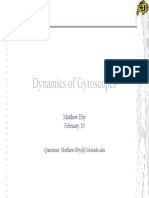 Dynamics of Gyroscopes