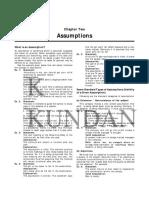 Assumptions by Kundan