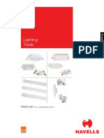 Consumer Lighting Price List