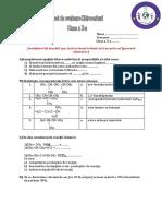 Test de Evaluare Hidrocarburi Clasa a X A