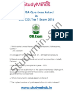 535 Ga Questions for Ssc Cgl Tier-1 2016