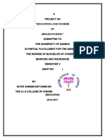 Final Project on EDUCATION LOAN OF ABHUDAYA BANK