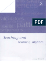 Doug French-Teaching and Learning Algebra-Continuum (2002)