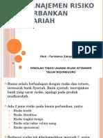 Pertemuan 14 Manajemen Risiko Perbankan Syariah