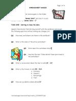 Games Exercise - Spreadsheets Basics