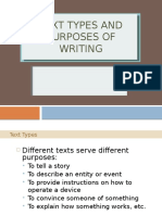 8 Text Types and Purposes of Writing
