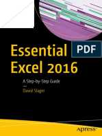 Essential Excel 2016 - A Step-By-Step Guide - 1st Edition (2016)