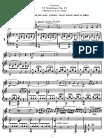 Concone 15 Vocalises, Op. 12 Medium or Low Voice