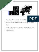 Historic Security Council NUJSMUN'16