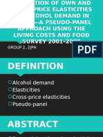 Estimation of own and cross price elasticities of alcohol demand in the UK--a pseudo-panel approach using the living costs and food survey 2001-2009