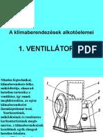 A Klímaberendezések Alkotóelemei - Ventillátorok