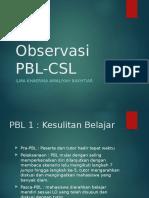 Observasi PBL CSL