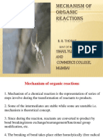 Mechanism of Organic Reactions