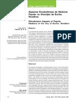 Medicina Popular No Município de Buritis, Rondônia
