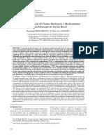 Estudo Da Utilização de Plantas Medicinais e Medicamentos Em Um Município Do Sul Do Brasil (1)