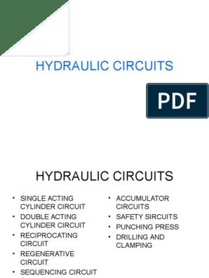 hydraulic circuits ppt   Pump   Valve
