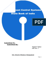 Management Control Systems of SBI
