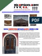 Carpinteria Metalica Albox T y T SL - Fabricacion y Instalaciones Metalica - Albox - Almería (Almeria) - España (Spain) Wrought Iron and Stainless Steel Specialists in Albox Almeria