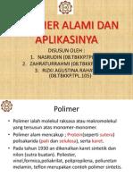Polimer Alami Dan Aplikasinya