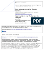 Solar Radiation Over Turkey and Its Analysis
