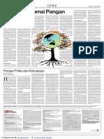 Opini Lingkungan - Green Konsumsi Pangan