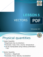 Lesson 5 - Vectors