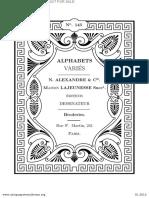 Alphabets Variés (1901) - N. Alexandre & Cie Alexandre